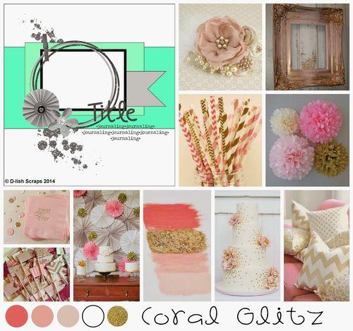 Coral Glitz Inspiration Board