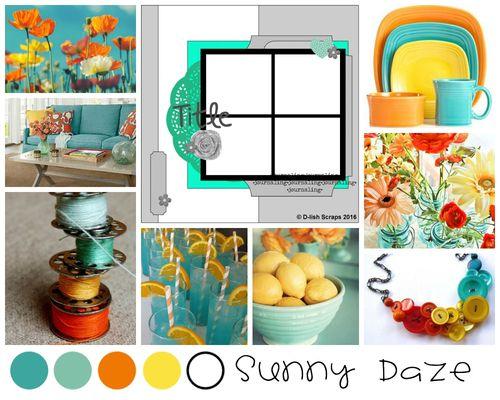 Sunny Daze Inspiration Board